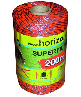 "BOBINE""SUPERFIL""3FILS CUIVRE 0,25 200M ORANGE"