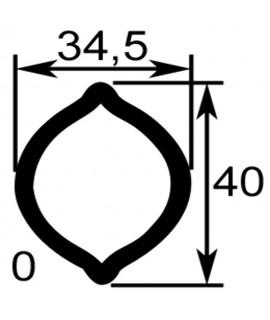TUBE PROFIL (O) LG.2900 INT.34,5X40X3