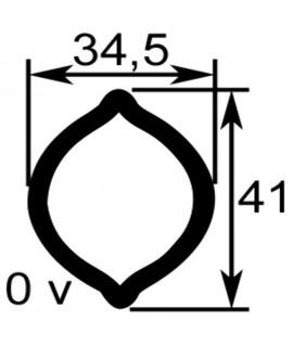 TUBE PROFIL (OV) LG.2900 INT.34,5X41X4