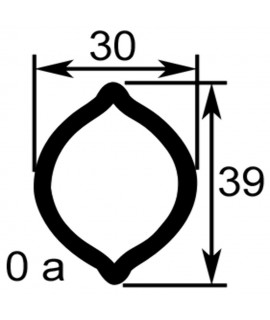 TUBE PROFIL (OA) LG.960 EXT.30X39X2,8