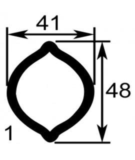 TUBE PROFIL (1) LG.2900 EXT.41X48X3
