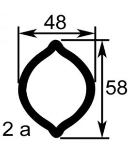TUBE PROFIL (2A) LG.960 EXT.48X58X4