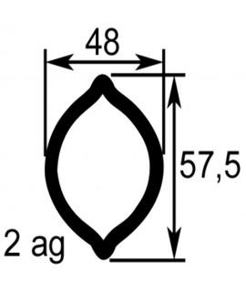 TUBE PROFIL (2AG) LG.2900 EXT.48X57,5X3,5