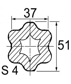 TUBE PROFIL (S4) LG.2900 INT.37X51X6