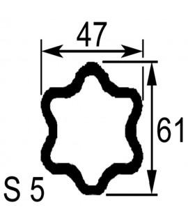 TUBE PROFIL (S5) LG.2900 EXT.47X61X4,5