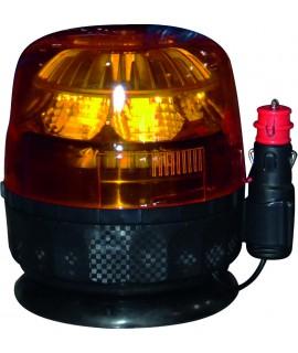 GYROPHARE MAGNETIQUE 12/24V 8 LEDS 9W GALAXY