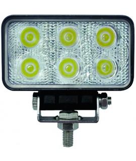 FEU LED18W 60°RECT.110/55MM 12/24VIP67 STELEC