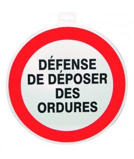 SIGNALETIQUE DEFENSE DE DEPOS. DES ORDURES