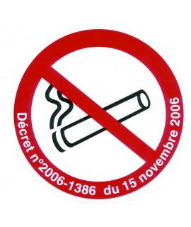 SIGNALETIQUE DEFENSE DE FUMER + DECRET ADHES.