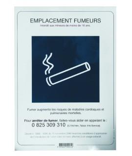 SIGNALETIQUE EMPLACEMENT FUMEUR + DECRET