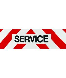 PANNEAU SERVICE REFLECHISSANT 50x15 MAGNETIQ.
