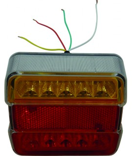 FEU ARRIERE 4 FONCTIONS LEDS 105X98X36 12V