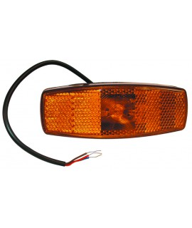 FEU DE GABARIT ORANGE 1 LED 12/24V 115X42