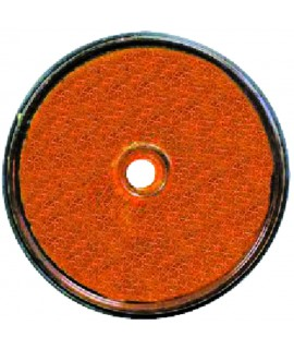 CATADIOPTRE ROND ORANGE DIAMETRE 61 VRAC