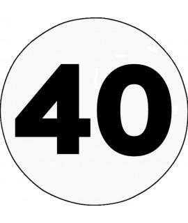 DISQUE ADHESIF LIMITATION DE VITESSE 40 KM/H
