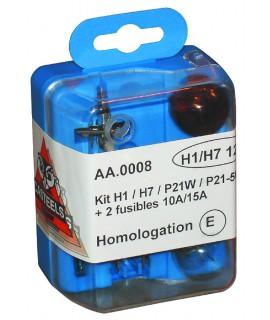 COFFRET SECOURS CODE HALOGENE H1/H7