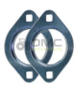 Palier nu base ovale - acier