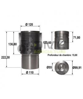 Chemise-piston- 3 segments