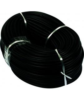 GAINE PVC NOIR D.INT.08MM (100M) LE METRE