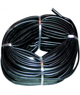 GAINE PVC NOIR D.INT.12MM (100M) LE METRE