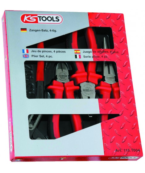 COFFRET 4 PINCES ERGOTORQUE KS TOOLS