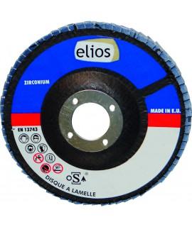 DISQUE A LAMELLES 125X1 GR120 ZIRCO X10 ELIOS