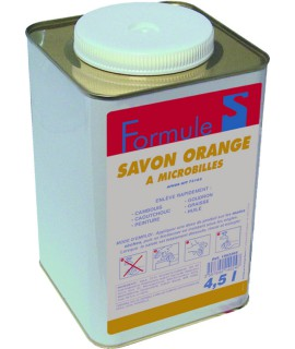 SAVON GEL MICROBILLE ORANGE SOFT BIDON 4,5L