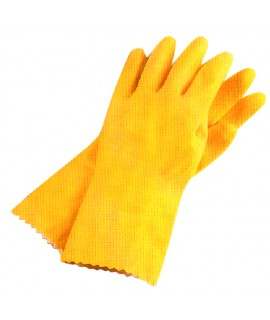 GANT DE MENAGE LATEX JAUNE T.9 SACHET
