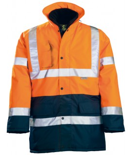 PARKA POLY. 4 EN 1 HI-VIZ ORANGE/MARINE XXL