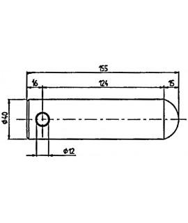 AXE D.40 LG 155MM POUR BRAS TYPE CASE