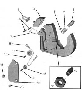 CAPOT / CROCHET INF. NOUVEAU MODELE CAT2-3
